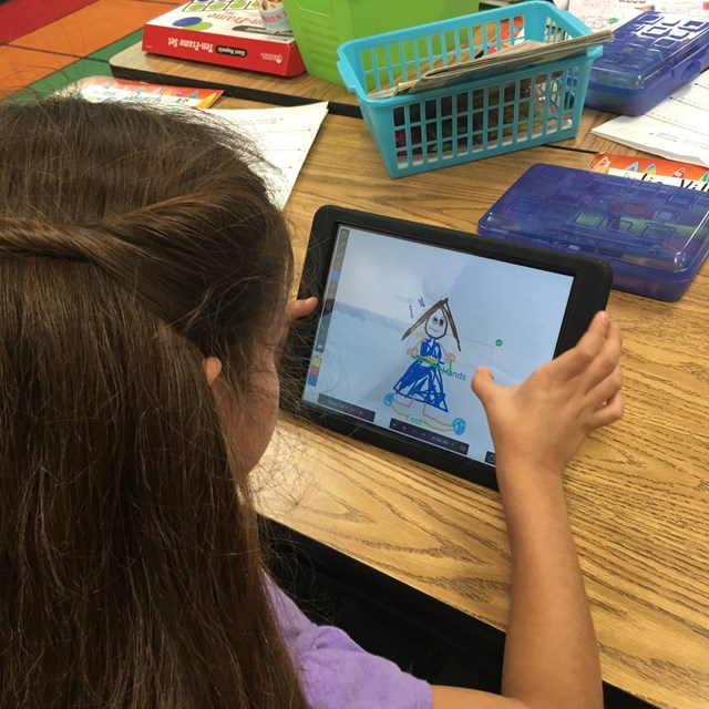 Tablets help bring out students' creativity and teaches them new skills.