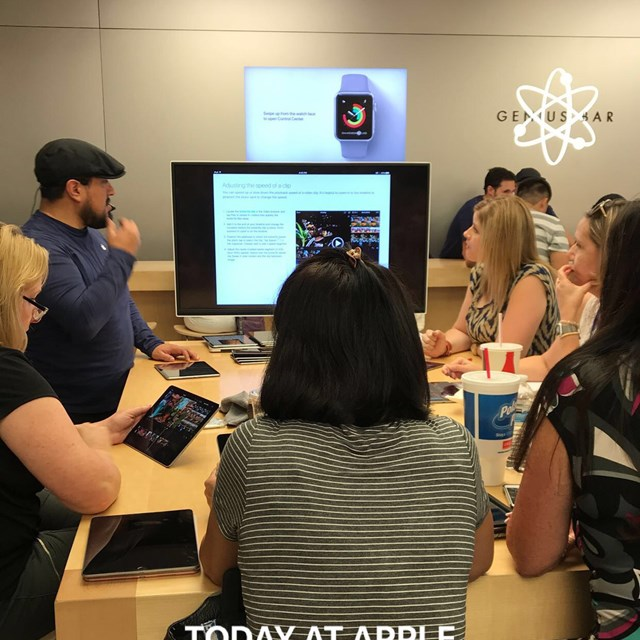 Faylane's educators engage in a training at the Apple Store to learn about the application of technology into a 21st century classroom.