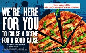 PTA Fundraiser Event: Blaze Pizza - article thumnail image
