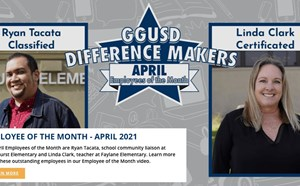 Falcon Spotlight - Linda Clark for being chosen as GGUSD's April Employee of the Month!! - article thumnail image